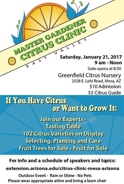 Master Gardener Citrus Clinic Flyer